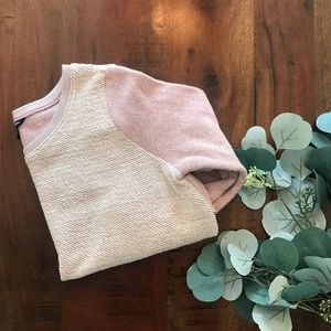 American Eagle Texture Blocked Sweatshirt